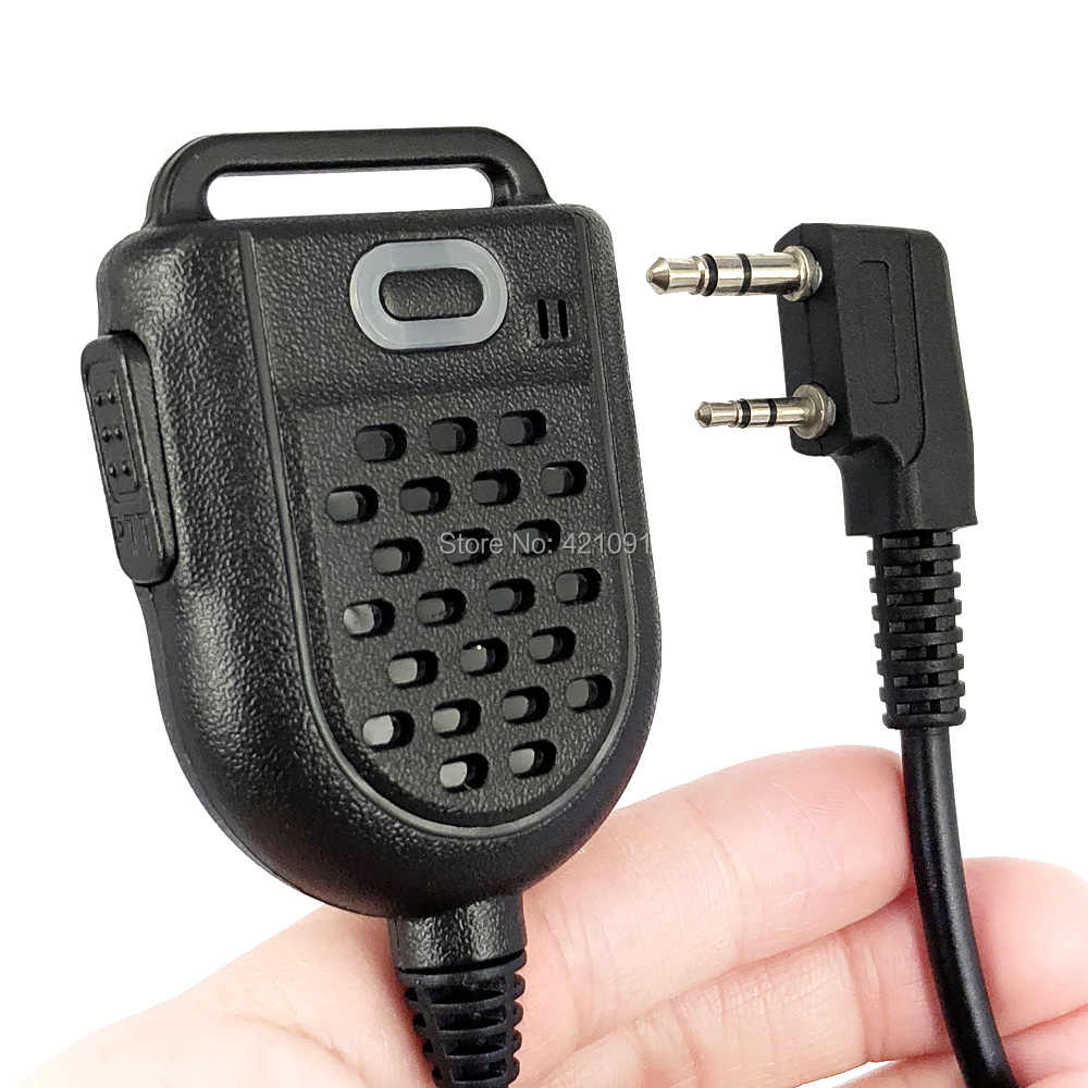 PTT Mini LED Shoulder Speaker Mic Microfone Para KENWOOD BAOFENG TK-3107 BF-888s UV-5R GT-3TP HYT Walkie Talkie Rádio em Dois Sentidos