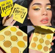 Guicami amarelo brilho neon sombra maquiagem palete shimmer brilhante pigmentado paleta de sombra de olho metálico diamante compõem paleta