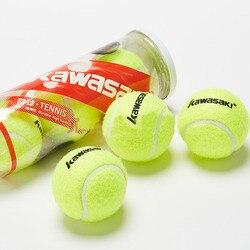 Kawasaki 3Pcs Prática Bola De Tênis Bola de Tênis de Borracha de Alta Resistência Durável para Exercícios de Treinamento de Competição Do Clube Da Escola