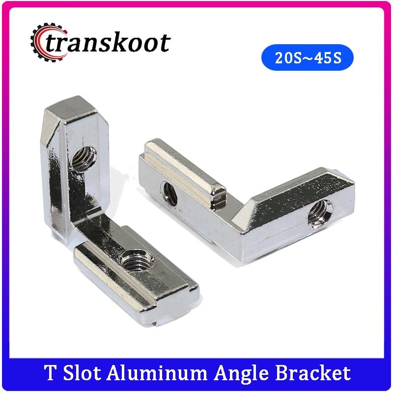 50pcs 20pc 10pcs T Slot Aluminum Angle Bracket Interior Joint Bracket fro Aluminum Extrusion Profile 2020/3030/4040/4545 Series bracket l bracket 2020bracket aluminum - AliExpress