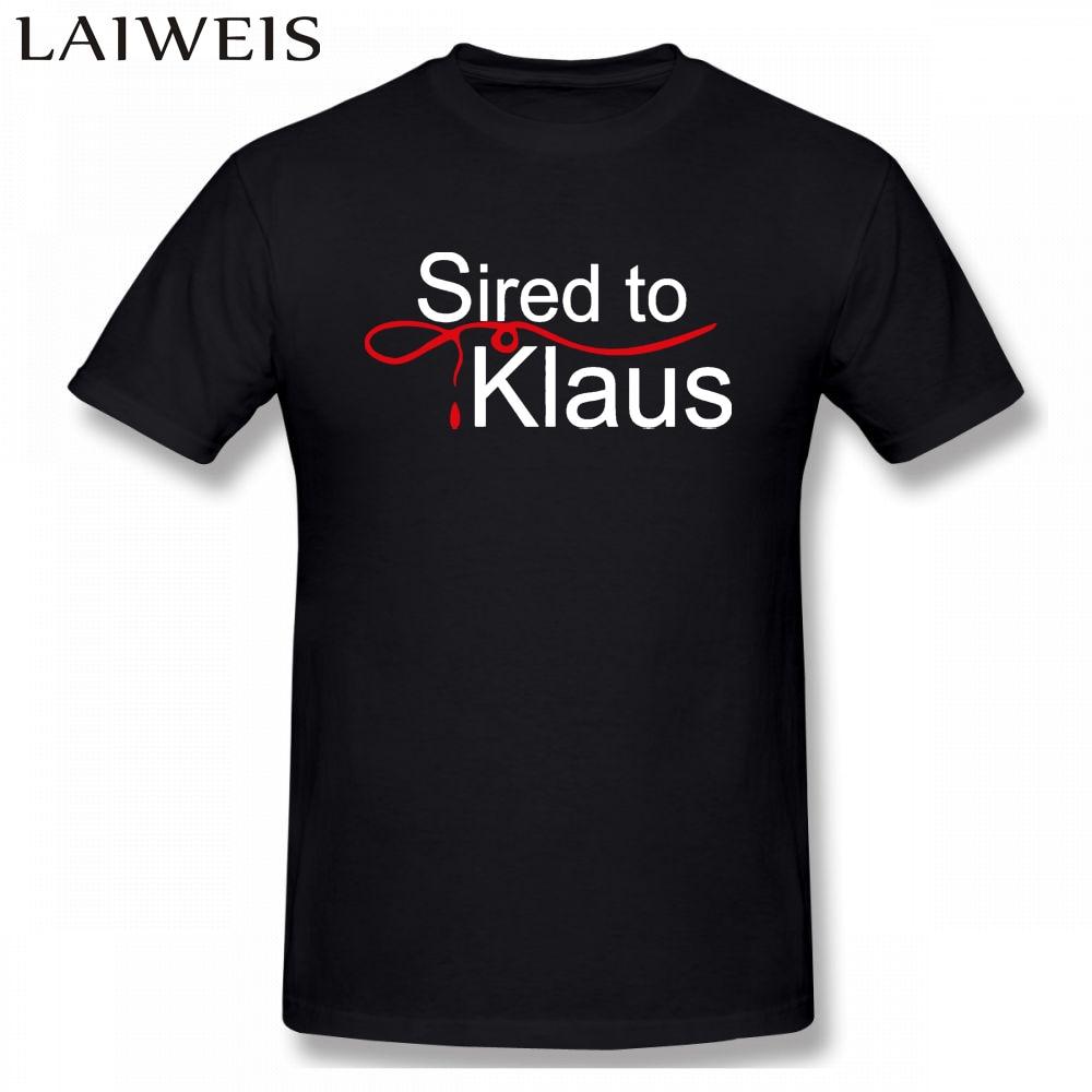 Sired to Klaus T-Shirt The Vampire Diaries inspired Mystic Falls Salvatore Damon Summer Short Sleeves Cotton Fashion shirts
