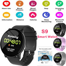 S9 Smart Watch Waterproof Heart Rate Blood Oxygen Pressure Fitness Bracelet Monitor for iOS Android Fashion Sport Smartwatch(China)