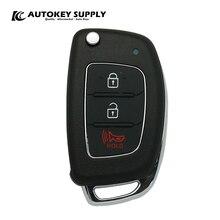 Für Hyundai 2 + 1 Tasten Fernbedienung Flip Schlüssel Komplett Gelten Fsk 433Mhz Chip:4D60 80 Bit AutokeySupply AKHKC404