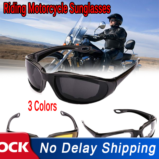 Riding Motorcycle Sunglasses Outdoor Sports Cycling Goggles Bike Black Frame Eyewear Windproof Lightproof Motorbike Men Eyewear