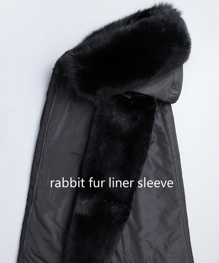 Real Fur Coat Natural Mink Fur Liner Warm Parka Men's Winter Jacket Mens Real Fox Fur Collar Luxury Jackets Plus Size 5xl MY1598