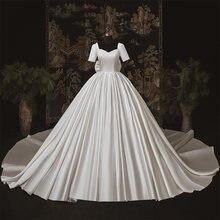Женское атласное свадебное платье it's yiiya белое невесты