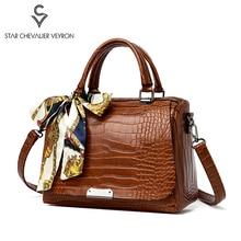 цена на SCV Hot Vintage Women Handbags 2020 New Crocodile Women Shoulder Messenger Bag Casual Fashion Ladies Handbag Female Boston Bags