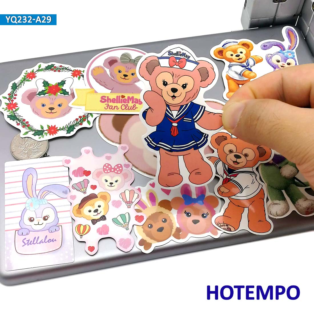 30pcs Cute Cartoon ShellieMay Bear Duffy Anime Stickers For Children Kids Mobile Phone Laptop Skateboard Luggage Guitar Stickers