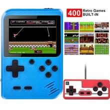2021 novo 3 Polegada retro game console mini caixa de jogos 400 em 1 brinquedos para crianças presentes 8 bit jogador jogo