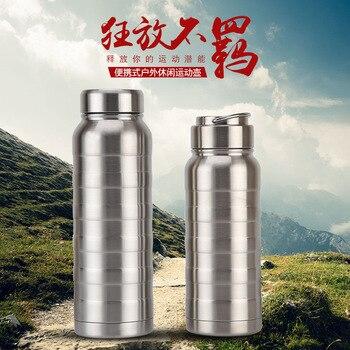 Две крышки вакуумной нержавеющей стали вакуумной чашки портативный ручной стиль большой объем Спортивная бутылка с надписью печатных слов