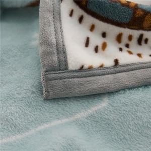 Image 3 - Papa&Mima Thin Throws Blanket Fleece Plaids Multisize Bedsheet Multifunctional Bedspread