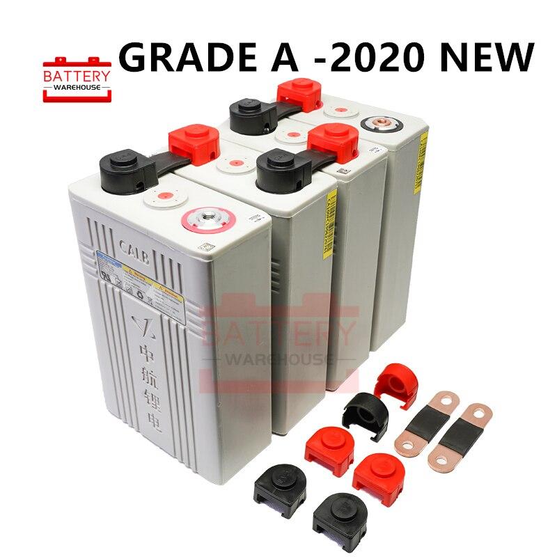 4 pièces 3.2v 100ah Lifepo4 batterie 12v100AH Lithium fer phosphate piles nouvelles CALB ca100 plastique pour solaire RV pack à 24V