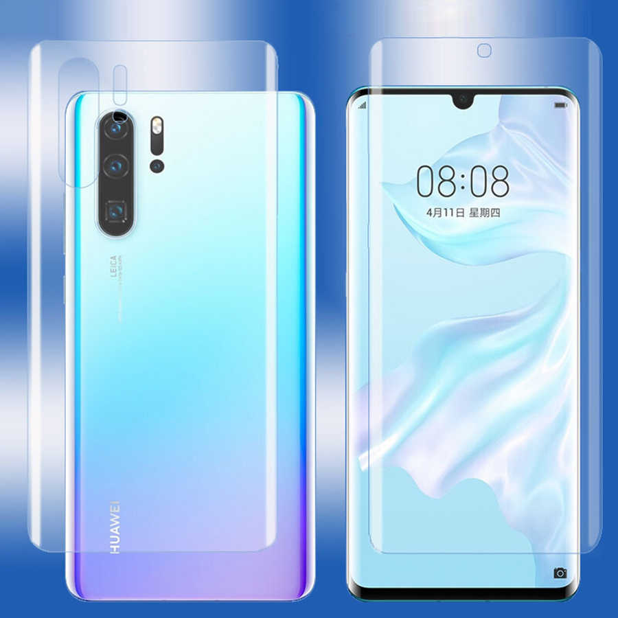 Front+Back 3D Full Cover Screen Protector TPU Film For Huawei P30 Pro P20 Lite Honor View 20 Pro 8X 9X Hydrogel Film (Not Glass)