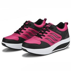 Image 5 - COWCOM chaussures de sport en cuir pour femmes, chaussures de sport et automne CYL 875