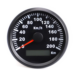 Hot Selling Car Modified GPS Waterproof Odometer 85 Size Stainless Steel with Numbers Speed Instrument 200 Km/h
