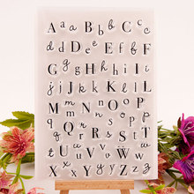 1Pcs Transparent Letters Digital Pattern Seal Photo Album Decor TPR 10.5*15.5cm Card Making Multifunction DIY Scrapbooking