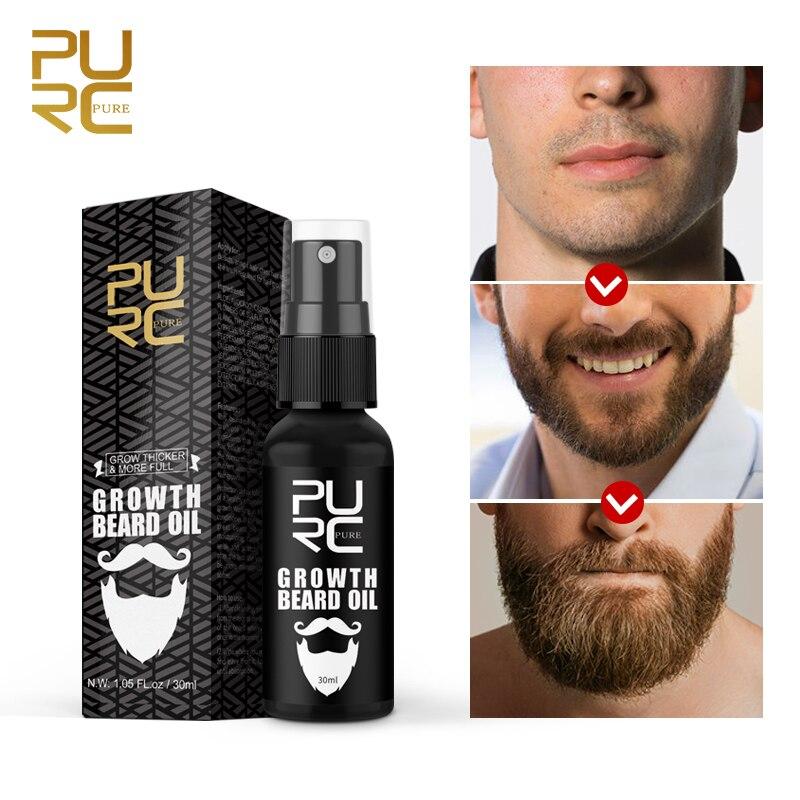 Thicker Beard Growth Oil Anti Hair Loss Men's Beard Hair Extension Grow Hair Essence Spray Fuller Hair Care 30ml 3