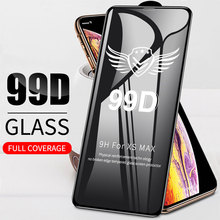 50 PCS 99D Beschermende gehard op voor For iphone X XS XR XS MAX glas For iphone 6 6S 7 8 Plus screen protector film f x mozart 6 lieder op 21