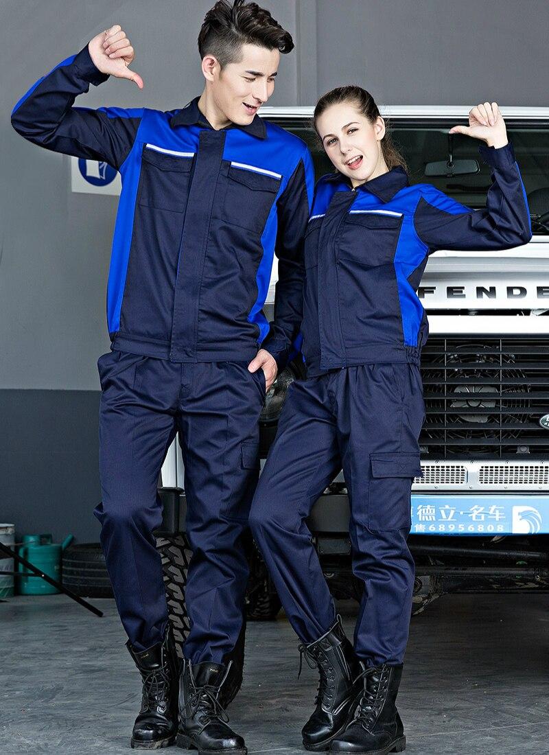 Auto Repair Workwear Suit Men Working Uniform Maintenance Clothes Ropa De Trabajo Para Hombre Taller Tuta Lavoro Uomo Werkplaats