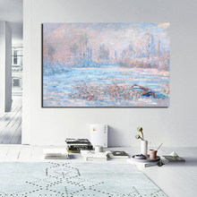 Claude Monet Poster Vintage Wall Art Canvas Painting Posters Prints Modern Painting Wall Pictures For Living Room Home Decor HD claude monet oil painting canvas painting lotus painting wall art wall pictures for living room home decor caudros decoracion13