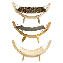 Cat Dog Wood Hammock Nest Swing Bed Easy to Assemble Construction Pet Supplies