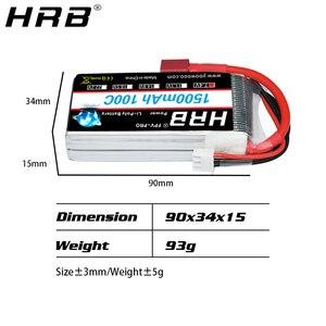 Image 3 - HRB 2S Lipo Batteria 1500mah 7.4V XT60 T Deans EC2 EC3 EC5 XT90 Femmina RC Parti di 100C per FPV Drone Aereo Da Corsa Auto Barca Camion