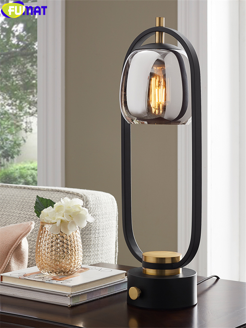 2020 Fumat Nordic Style Table Lamp Designer Glass Ins Creativity Desk Light Lighting Iron Frame Lantern Plating Glass Lampshade E27 From Goods520 400 64 Dhgate Com