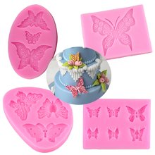 Clay Mold Decorating-Tools Sugar-Craft Butterfly Silicone Cake Candy Chocolate 3D DIY