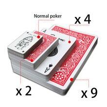 Негабаритных игральные карты для игры в большой техасский холдем покер карты; настольные игры Волшебная бутафория для свадебной фотосессии на творческий вечерние подарок