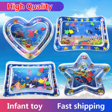 Tummy Time Baby Water Mat Infant Toy Inflatable Play Mat for 3 6 9 Months Newborn Boy Girl(China)