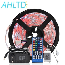 цена на 5m 5050 DC 12V 5M RGBW/RGBWW LED Strip Waterproof/Non Waterproof  Light Flexible with 3A Power and Remote Controller Full Set