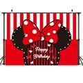 210x150cm Mickey Maus Party Kulissen Mickey Minnie Hintergrund Wand Tuch Geburtstag Party Dekoration Layout Studio Fotografie