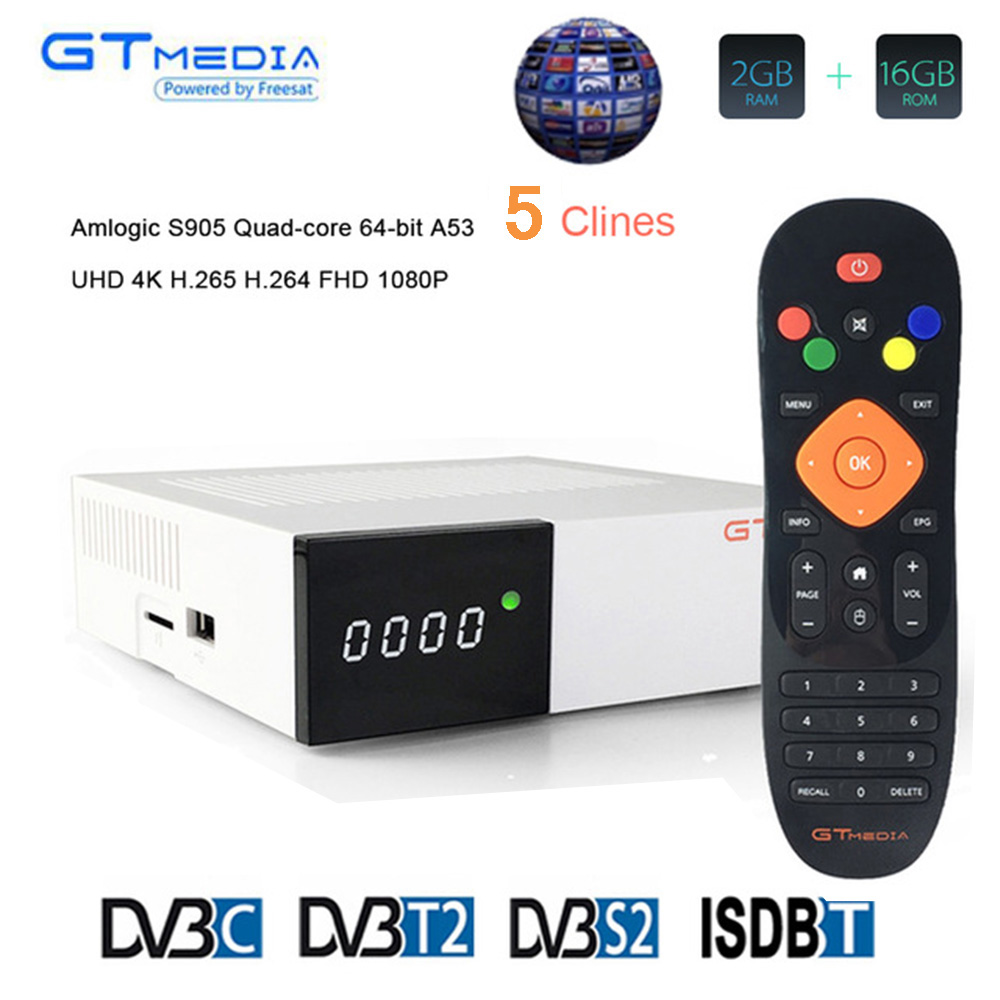 Freesat/GTmedia GTC Satellite Receiver <font><b>DVB</b></font>-S2/T2/Cable ISDBT android 6.0 support Netflix Youtube <font><b>wifi</b></font> decoder PK H96 image