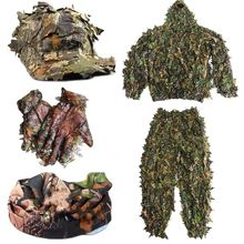 Cs 3d лист йоуи снайперская одежда 4 шт ghillie костюм + Кепка