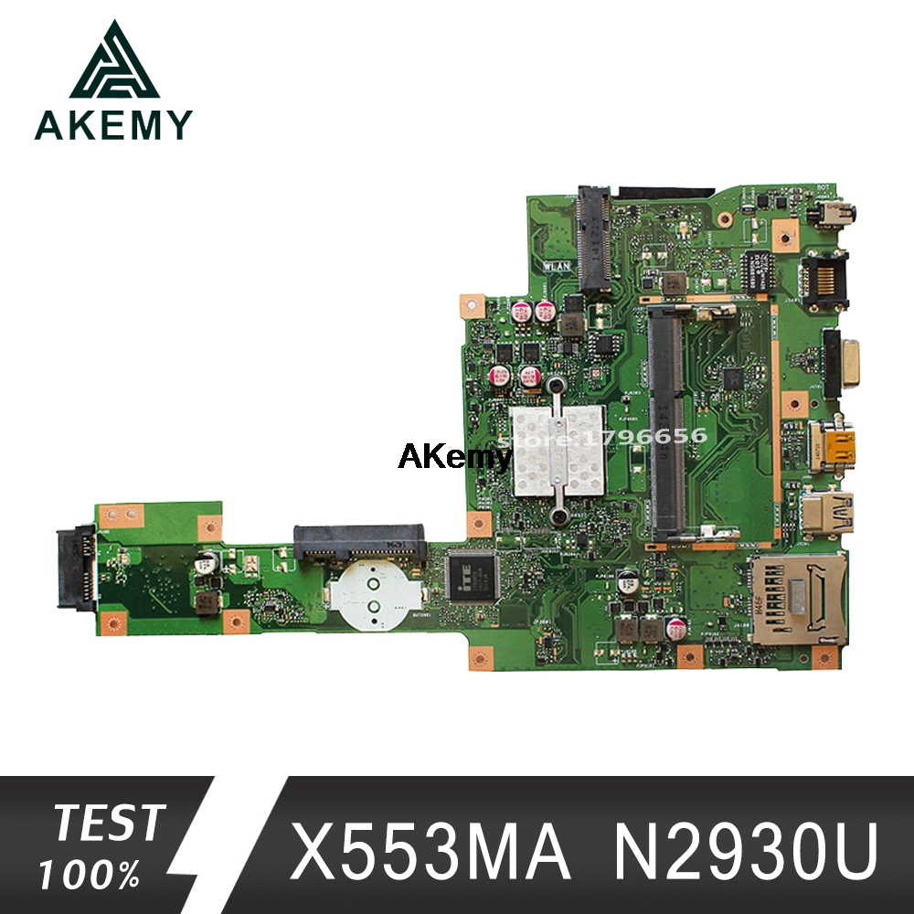 Akemy Asus A553M X503M F503M F553M ノートパソコンのマザーボード X553MA N2930U CPU メインボードテスト良い  グループ上の パソコン & オフィス からの マザーボード の中 1