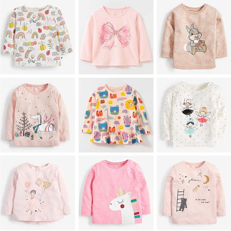 Brand 100% Cotton Baby Girls t shirts 1-7Y Kids Clothing Clothes Children Long Sleeve t-shirt Girls Blouses Undershirt Tops 2020 1