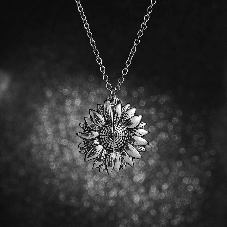 Lettrage ouvrable collier de fleurs colorées vous êtes mon soleil collier de tournesol meilleur souhait pour dame fille tempéramen cadeaux