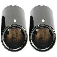2x титановые черные выхлопные трубы для автомобиля хвостовые