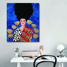 Girl Turkish Painter Canvas Poster Nordic Decorative Picture Painting Modern Wall Art Canvas Painting Home Decoration Art Prints hot sale green leaf canvas poster nordic decorative pictures painting modern wall art canvas painting home decoration art prints