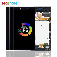 5.5ORIGINAL For SONY Xperia Z5 Premium LCD Touch Screen Digitizer Assembly For Sony Z5 Plus Display with Frame Replacement Z5+