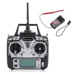 Radio Control 2,4 GHz 6 canales Izquierdo Control remoto de mano transmisor + receptor para Flysky FS-T6 helicóptero RC