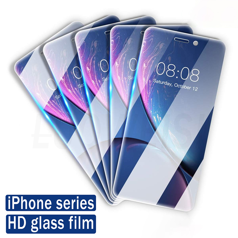 Protective Glass For IPhone 11 Pro X XR XS Max, Screen Protector Tempered Glass On For IPhone 7 8 6 6s Plus 5 5s SE 2020 Glass
