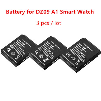 3pc/lot 380mAh Replacement Battery For A1 DZ09 Smart Watch Battery Backup Batteria For DZ09 A1 Smartwatches Rechargable Battery