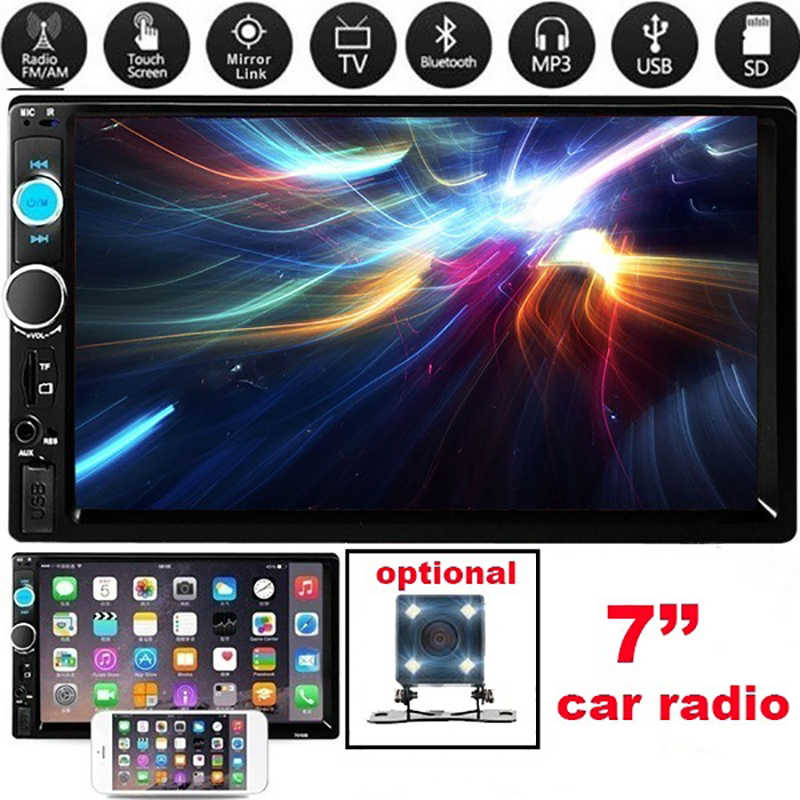 Mobil Multimedia Player Bluetooth Player MP5 Pemutaran Video Sensitif Sentuh Layar Mobil Radio Kamera Cadangan Mobil Dvd Player
