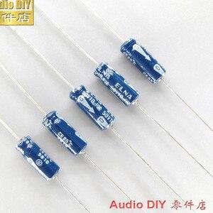 Image 1 - 20 pces novo elna velho 10 uf/50 v 5x15mm japão original 10 uf 50 v capacitor eletrolítico axial áudio azul 50 v 10 uf