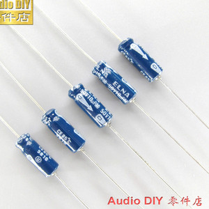 Image 1 - 20PCS NEW ELNA old 10uF/50V 5X15MM Japan original 10UF 50V axial electrolytic capacitor AUDIO blue 50V 10UF