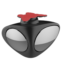 1PCS 360 Degree Adjustable angle Rear view auxiliary mirror Blind Spot Mirrors HD Convex Lens Dual Vision Auxiliary Mirror