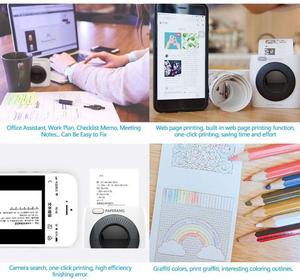 Image 5 - PAPERANG P2 Pocket Portable Bluetooth Photo Printer Mini 300 DPI Thermal Label Sticker Printer For Mobile Phone P1 200 DPI