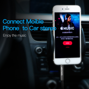 Image 4 - Mukavele 3.5mm Jack ses kablosu Jack 3.5mm erkek erkek ses Aux kablosu Samsung S10 araba kulaklık hoparlör tel hattı Aux kablosu