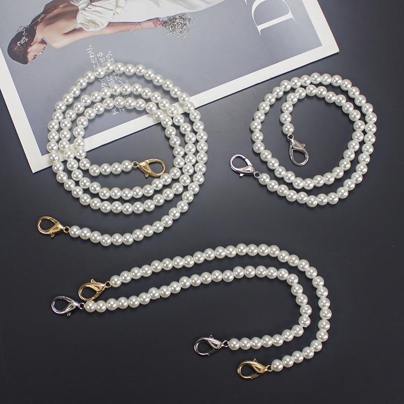 Pearl Bag Chain Hand-woven Bag Slant Bag With Pearl Bag Belt Handbag Accessories Single Shoulder Bag Chain